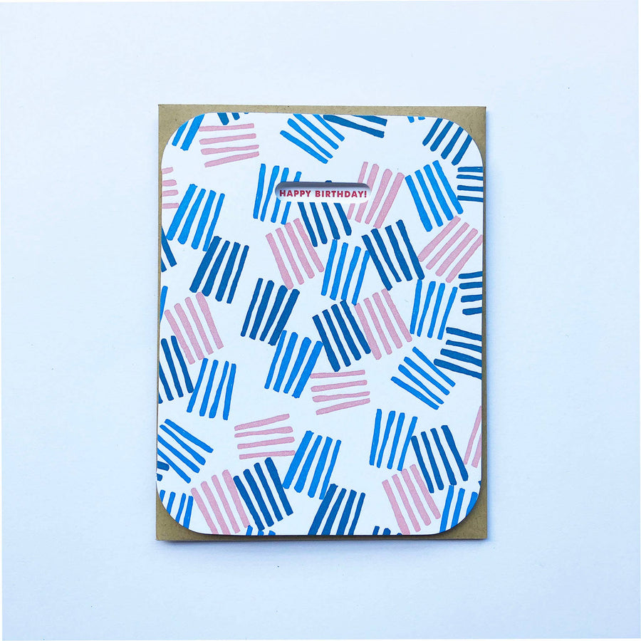 Awning Stripes Birthday Card