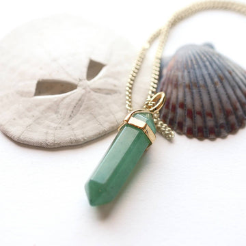 Adventurine Pendant Necklace