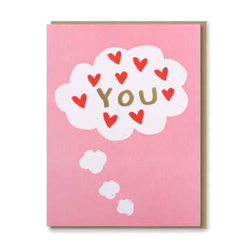 You Thought Bubble w Hearts Card
