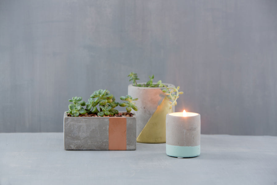 Amber + Smoke Urban Concrete Candle