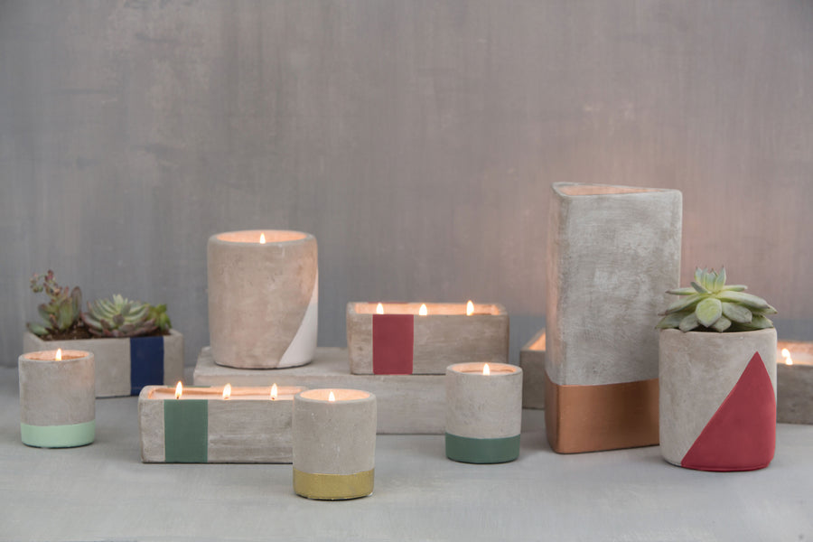 Tobacco + Patchouli Urban Concrete Candle