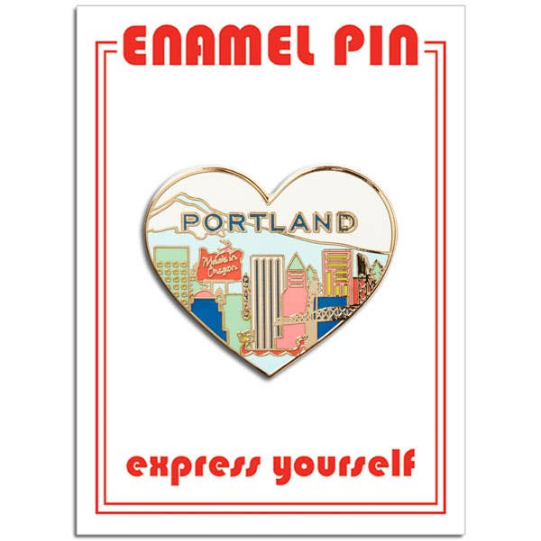 The Found - Portland Heart Pin
