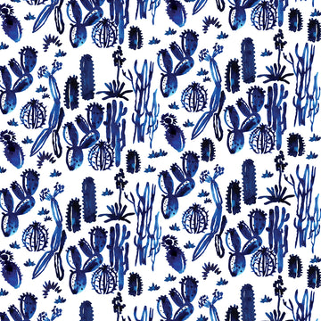 Indigo Cactus Wrapping Sheet