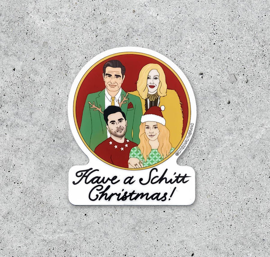 Schitt Christmas holiday sticker