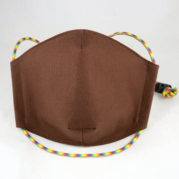 Rainbow Cord Brown Face Mask