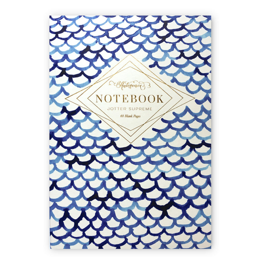 Indigo Fish Scales Jotter