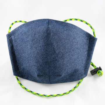 Green Cord Denim Face Mask