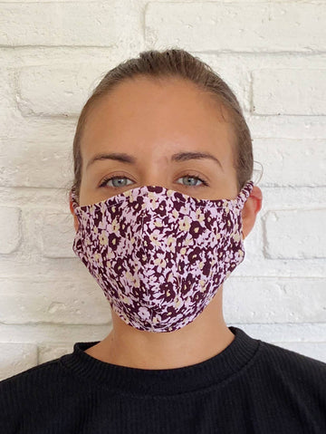 Orchid Musee Floral Face Mask
