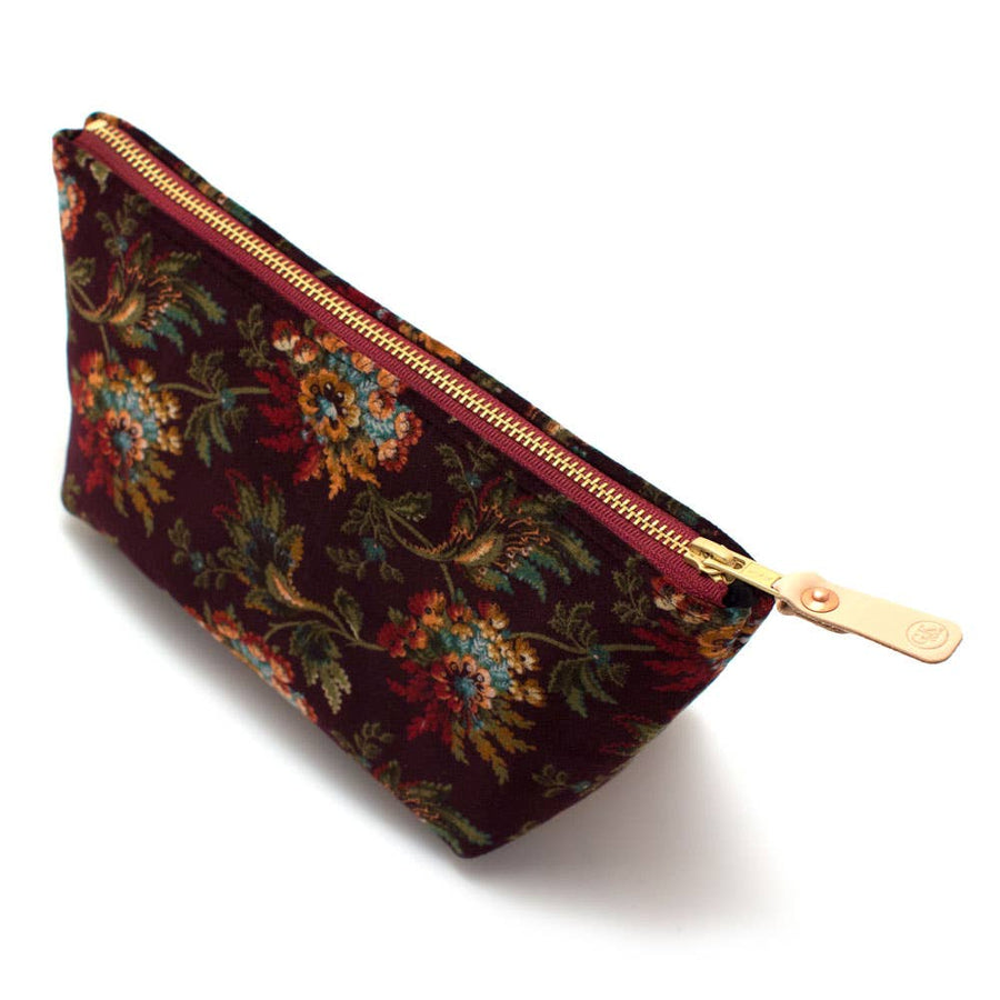 General Knot & Co. - Pemberley Velvet Floral Travel Clutch