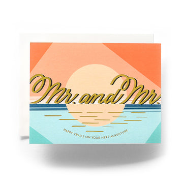 Modern Mr. & Mr. Wedding Card