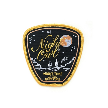 Night Owl Embroidered Patch