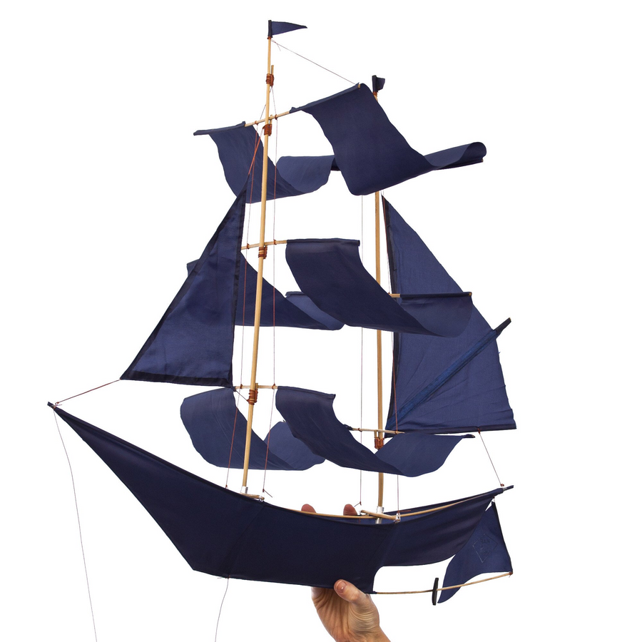 Indigo Sailing Ship Kite