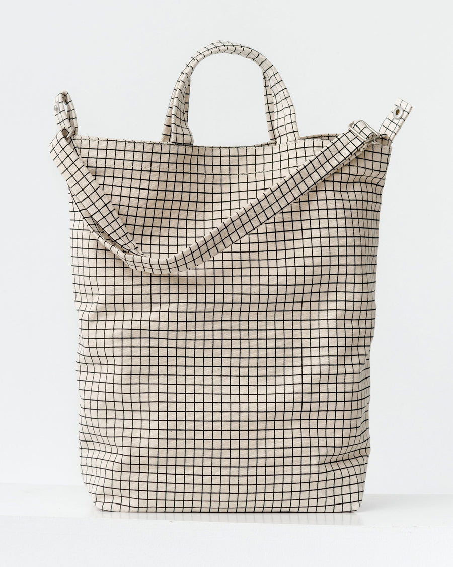 Natural Grid Duck Bag
