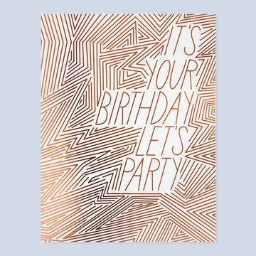 Let's Party Birthday Card