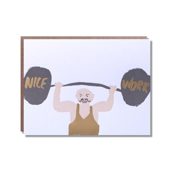 Nice Work Strong Man Card
