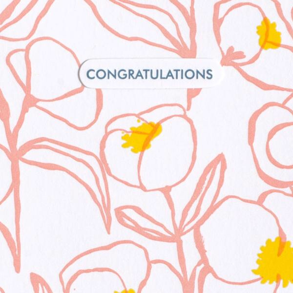 Big Flower Congratulations Card
