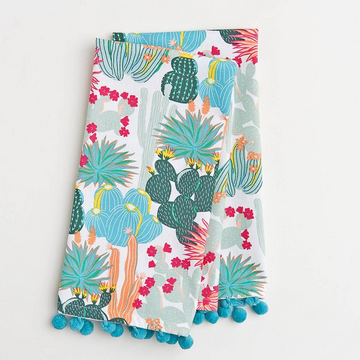 Colorful Cactus Set of Two Tea Towels