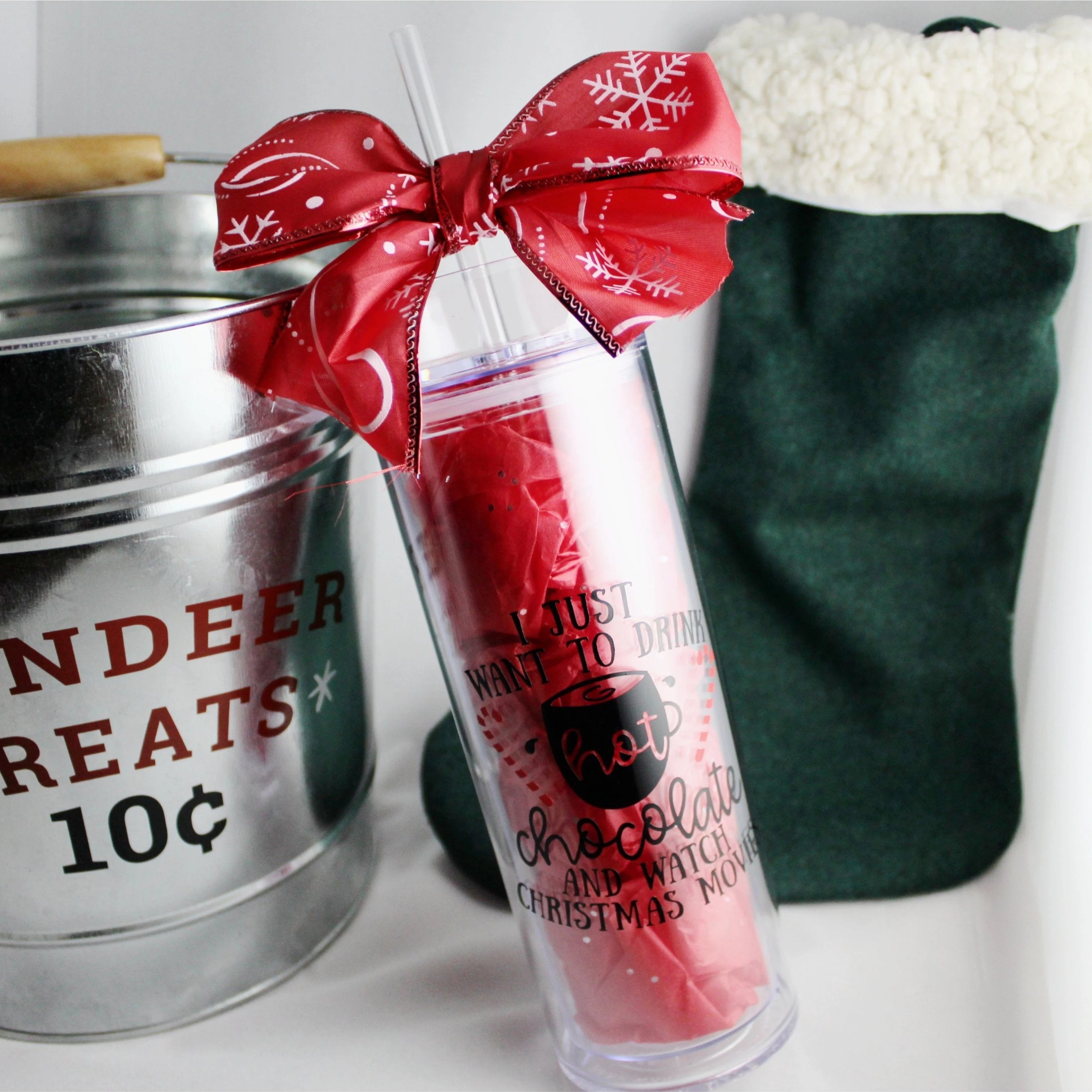 I Just Want To Drink Hot Chocolate 160z Tumbler-Southern Ivy Boutique