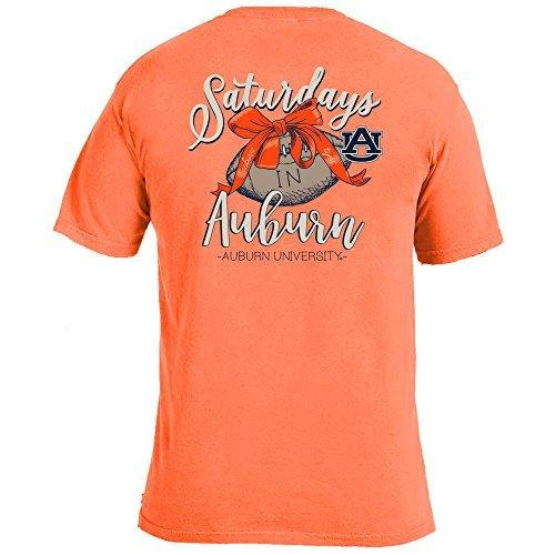 Laces and Bows Collegiate T-Shirt - Auburn-Southern Ivy Boutique