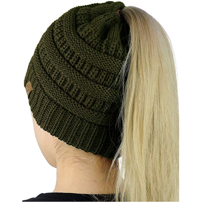 Let It Snow C.C. Beanie Ponytail - Southern Ivy Boutique