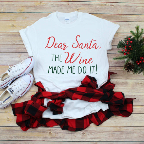 Dear Santa T-Shirt - Southern Ivy Boutique