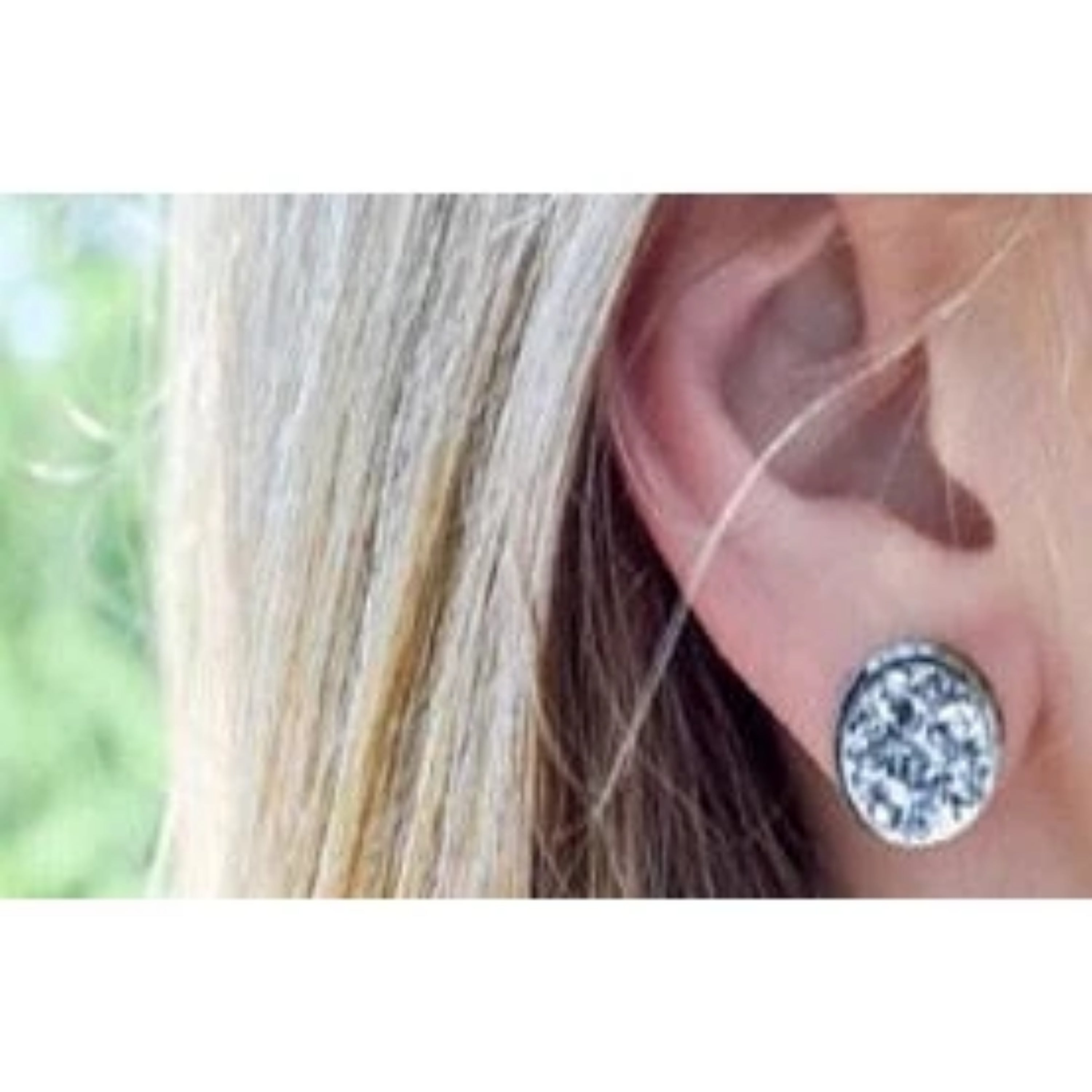 Mermaid Blue & Silver Post Druzy Earring-Southern Ivy Boutique
