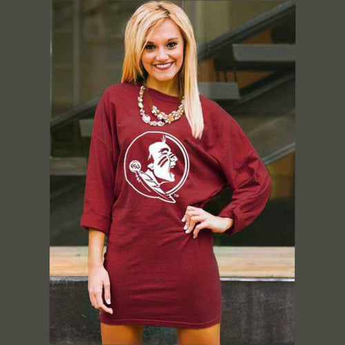 Gameday Couture Scream and Shout Tunic Dress - Florida State - Southern Ivy Boutique