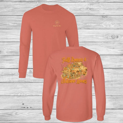 Fall Breeze & Autumn Leaves Long Sleeve Shirt - Southern Ivy Boutique