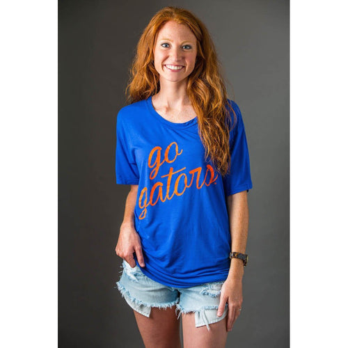 Kickoff Couture Go With The Flow Boyfriend Tee - Florida-Southern Ivy Boutique