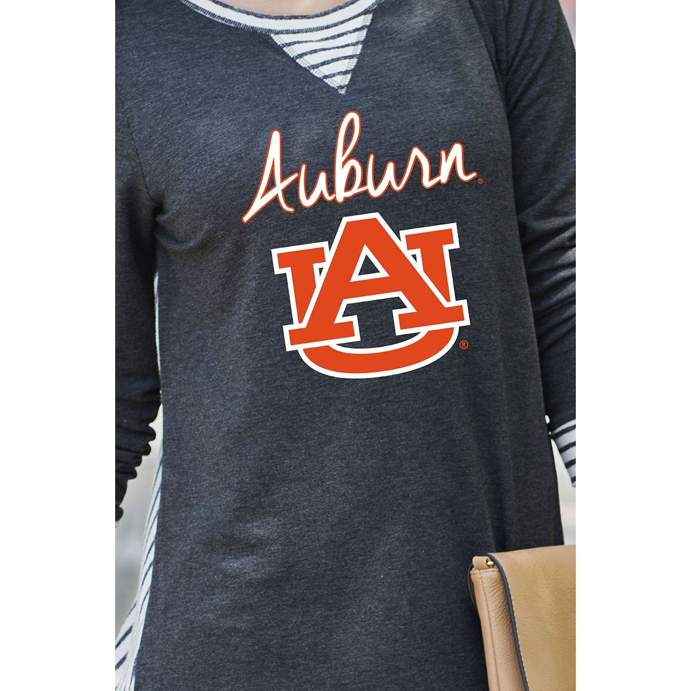 Gameday Couture You'll Be Back Striped Tunic - Auburn-Southern Ivy Boutique