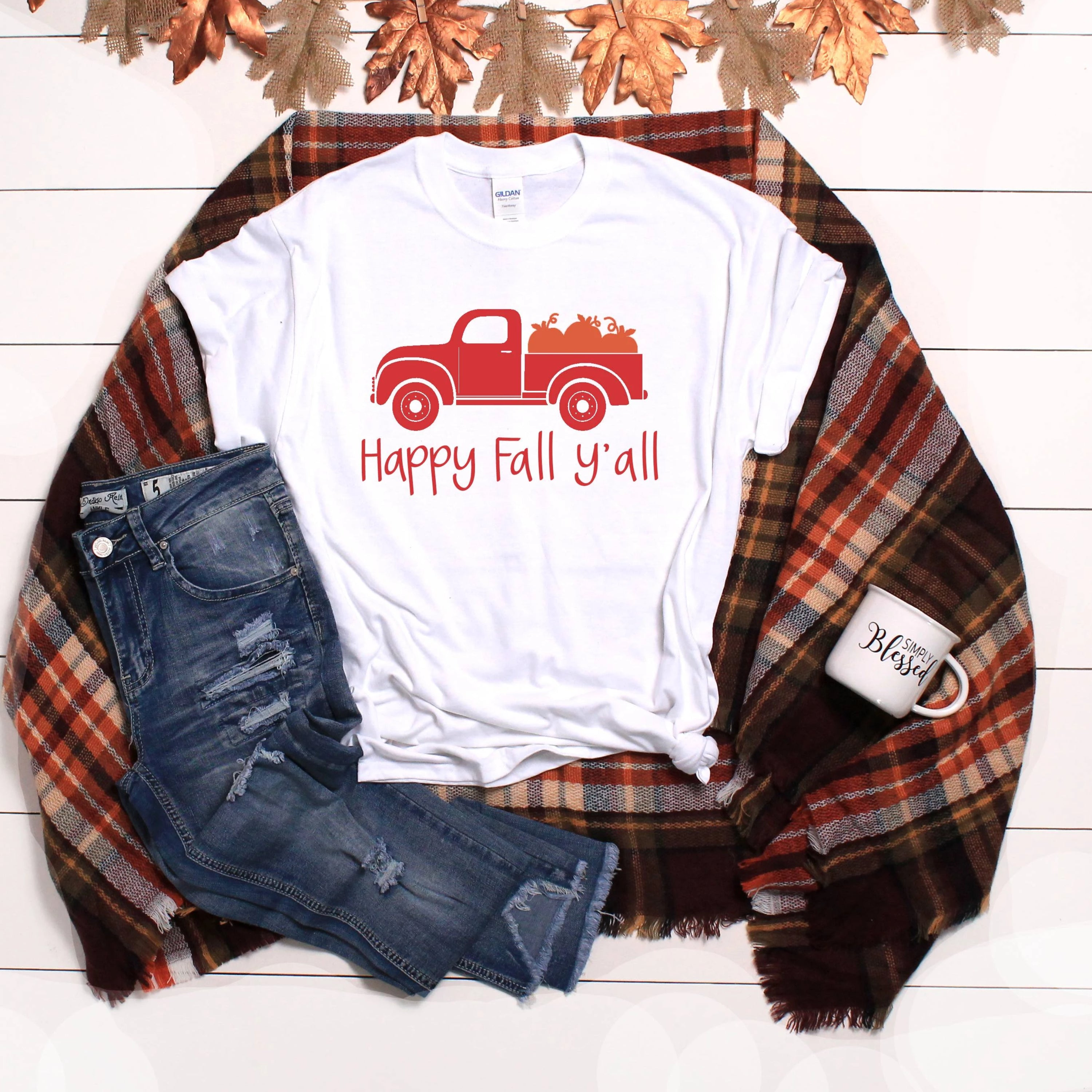 Happy Fall Y'all T-Shirt - Southern Ivy Boutique