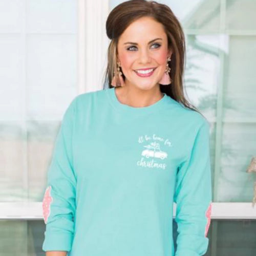 Gameday Couture Home For The Holidays Elbow Patch Shirt - Southern Ivy Boutique