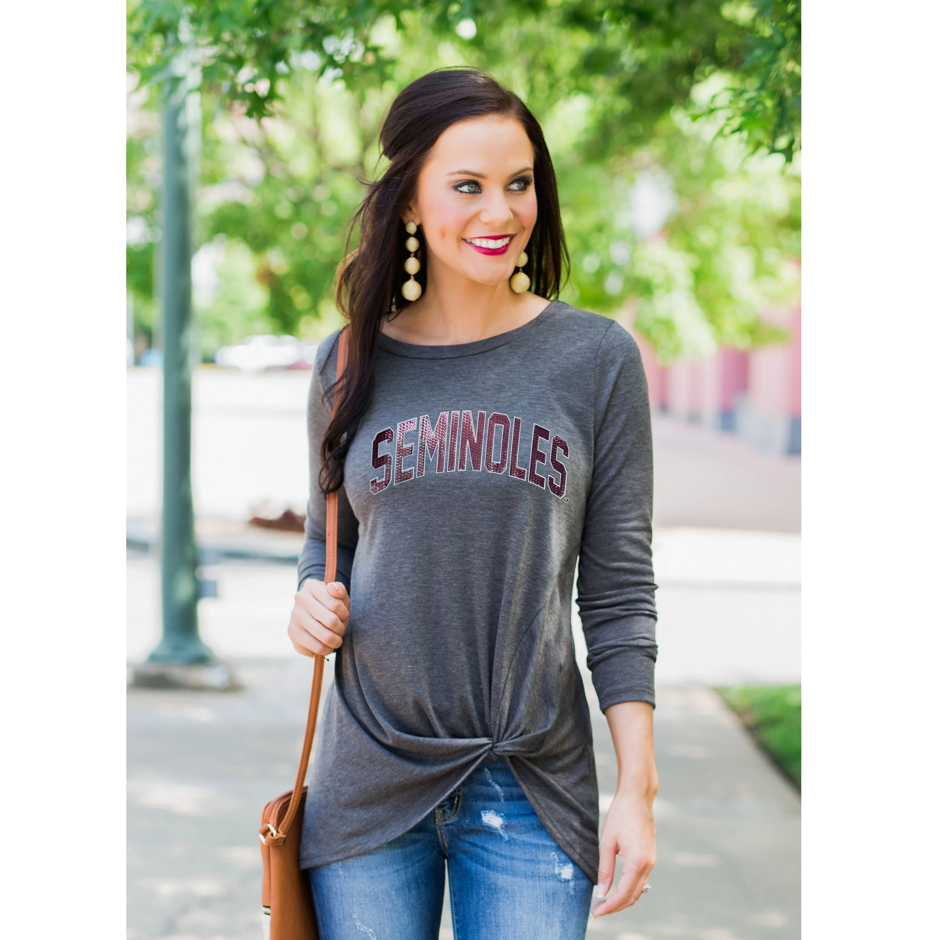 Always By Your Side Knotted Top - Florida State-Southern Ivy Boutique