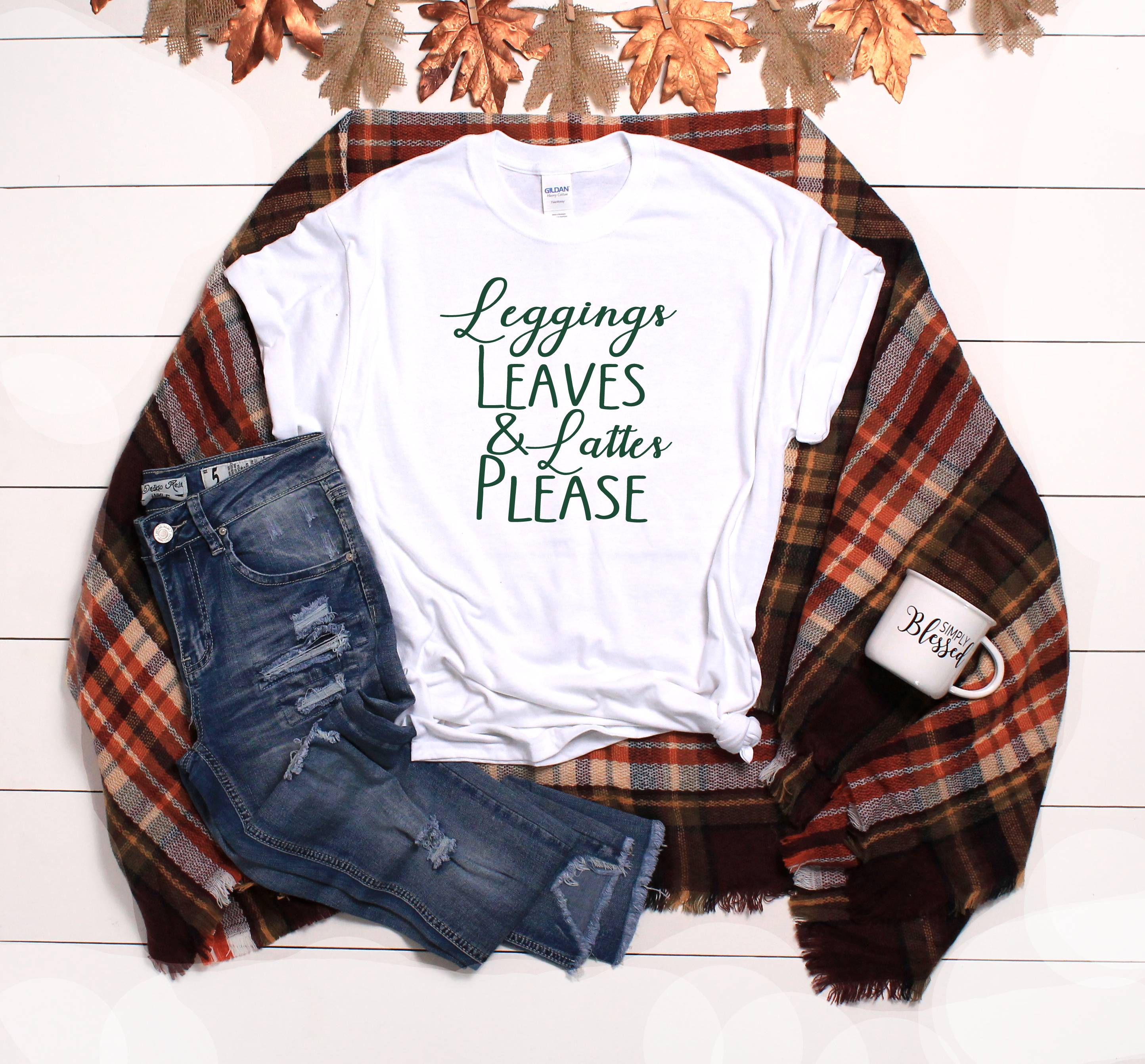 Leggings & Lattes T-Shirt - Southern Ivy Boutique