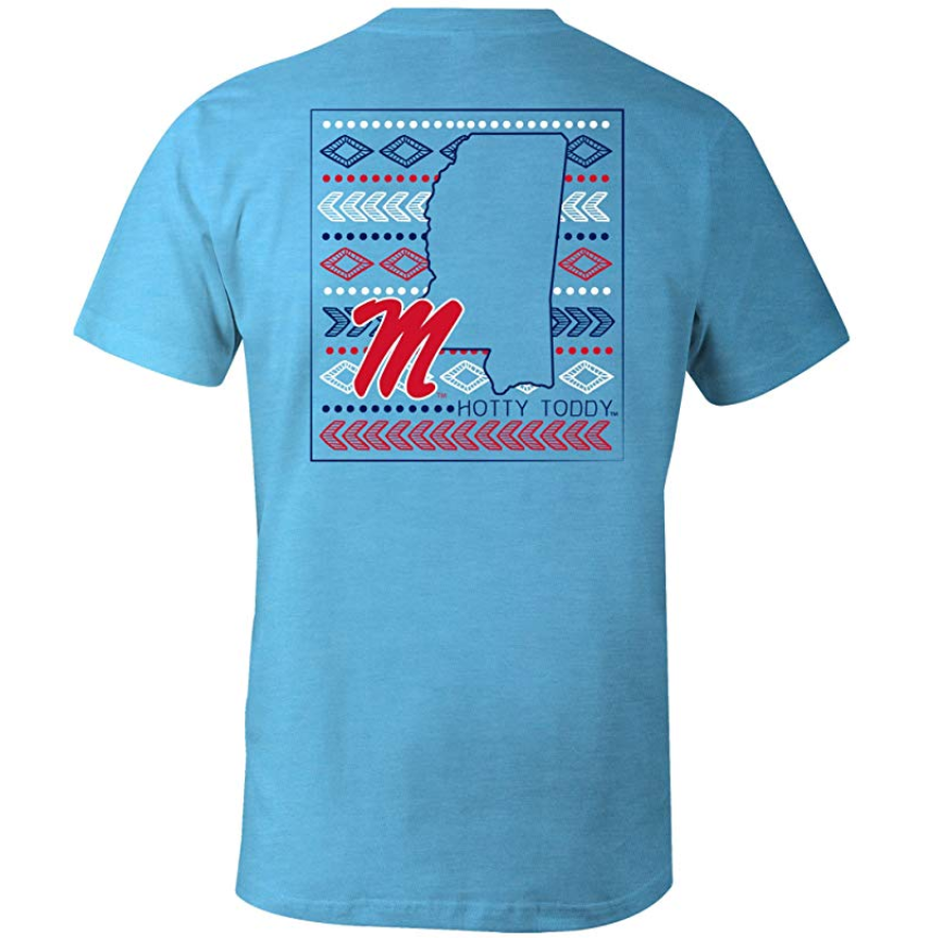 Laugh Out Loud Aztec T-Shirt - Ole Miss-Southern Ivy Boutique