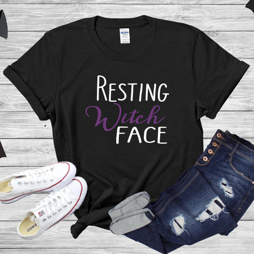 Resting Witch Face T-Shirt - Southern Ivy Boutique