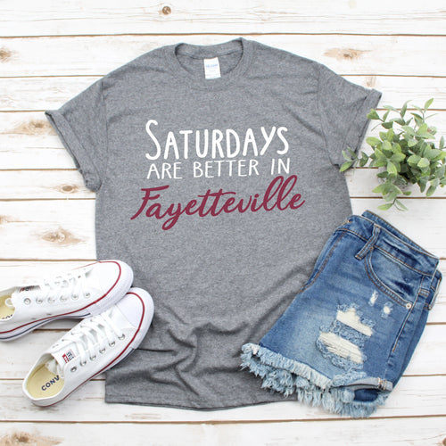 Saturdays In Fayetteville Gameday T-Shirt - Southern Ivy Boutique