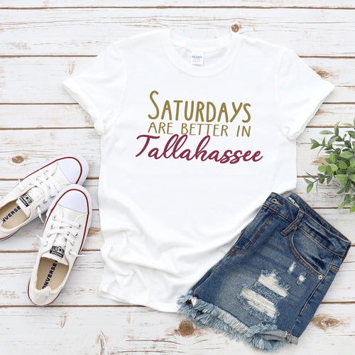Saturdays In Tallahassee Gameday T-Shirt - Southern Ivy Boutique