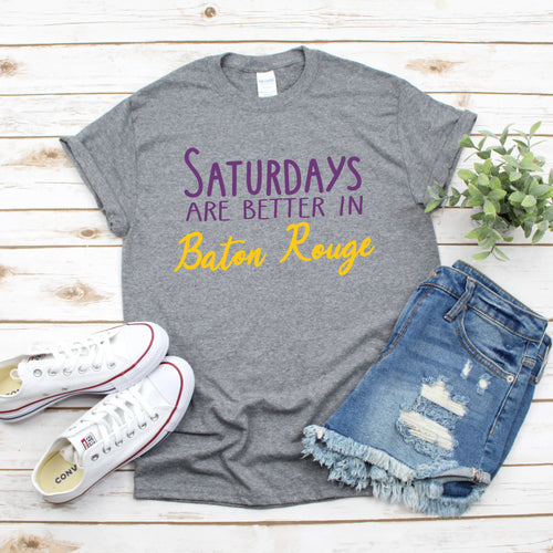 Saturdays In Baton Rouge Gameday T-Shirt - Southern Ivy Boutique
