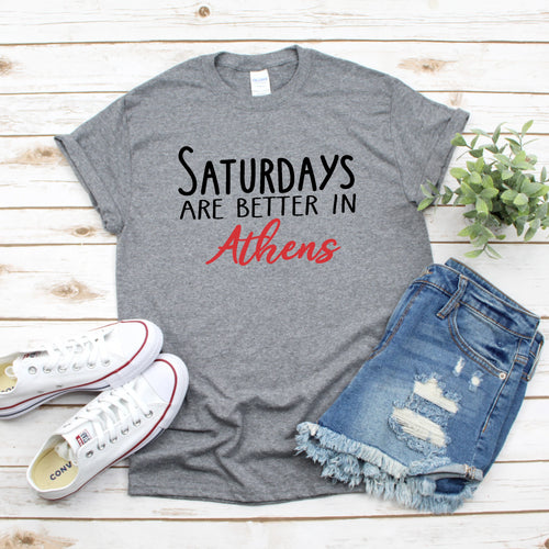 Saturdays In Athens Gameday T-Shirt - Southern Ivy Boutique