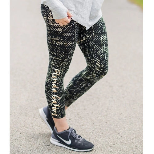 Gameday Couture Stop And Stare Athleisure Leggings - Florida-Southern Ivy Boutique