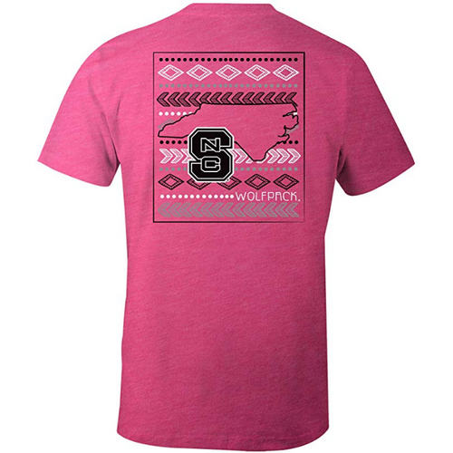 Laugh Out Loud Aztec T-Shirt - NC State-Southern Ivy Boutique