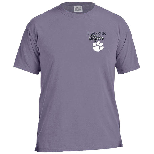 Laces and Bows Collegiate T-Shirt - Clemson-Southern Ivy Boutique