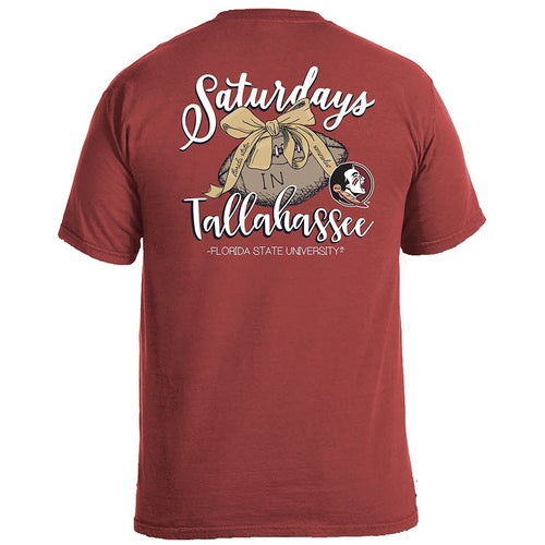 Laces and Bows Collegiate T-Shirt - Florida State-Southern Ivy Boutique