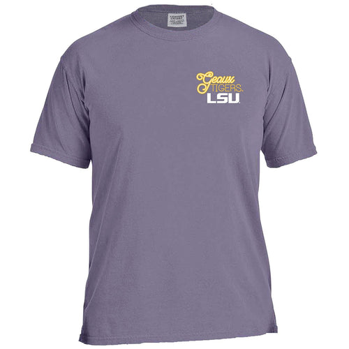 Laces and Bows Collegiate T-Shirt - LSU-Southern Ivy Boutique