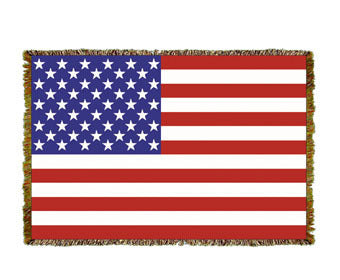 US Flag Mini Coverlet