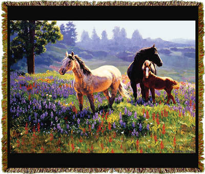 Horse Season of Contentment Coverlet