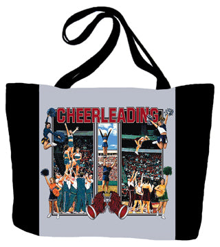 Cheerleading Action Tote Bag