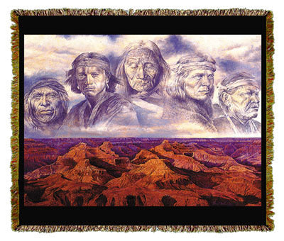 Native American Grandfather Earth Coverlet