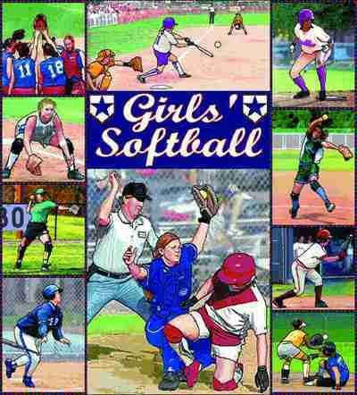 Girls Softball Coverlet